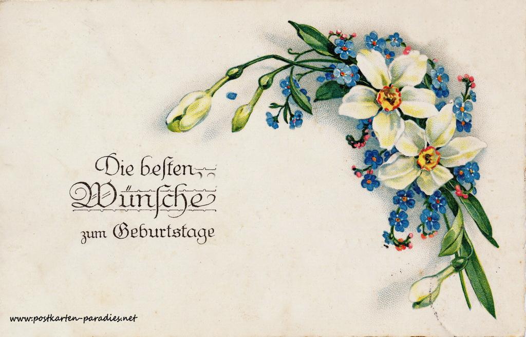 Geburtstagsgrüße,Postkarte Vergissmeinnicht 1932