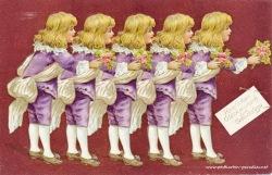 alte Geburtstagskarte Junge Kavalliere 1910