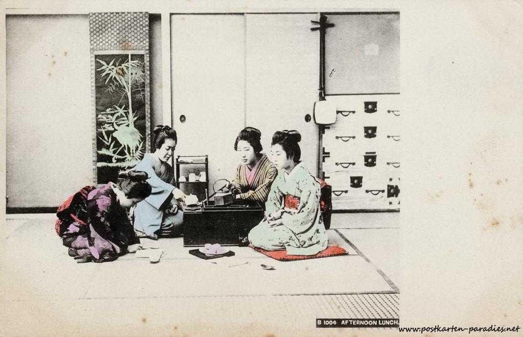 Japan Teezeremonie Frauen 1904
