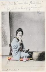 Japan, Frau 1904 Hibachi