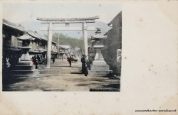 Japan Kobe Ikuta Tempel 1904