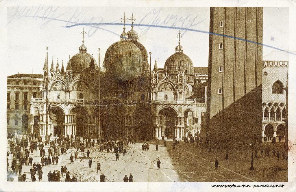 Venedig 1902 Markusplatz