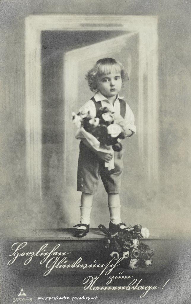 Namenstag, Junge, Blumen, 1910