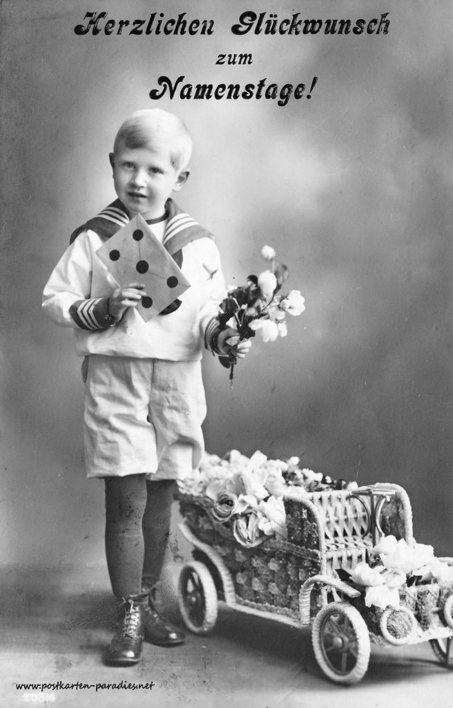 Namenstag, Junge, Blumen, 1916