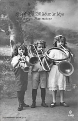 Namenstag, Kinder, Kapelle, Musik, 1910