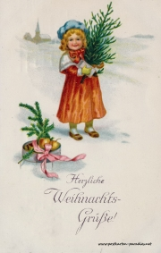 Weihnachtskarte Kaiserreich