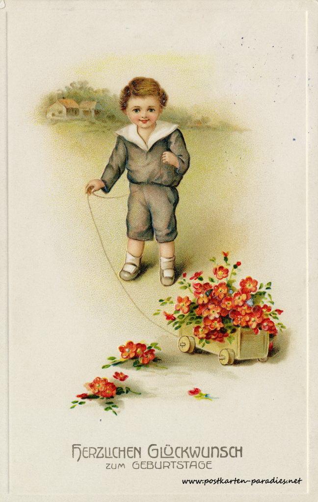 Schöne, alte Geburtstagskarten   Alte Postkarten