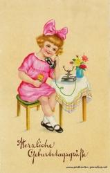 alte Geburtstagskarte