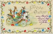 Osterkarte Osterhase 1901