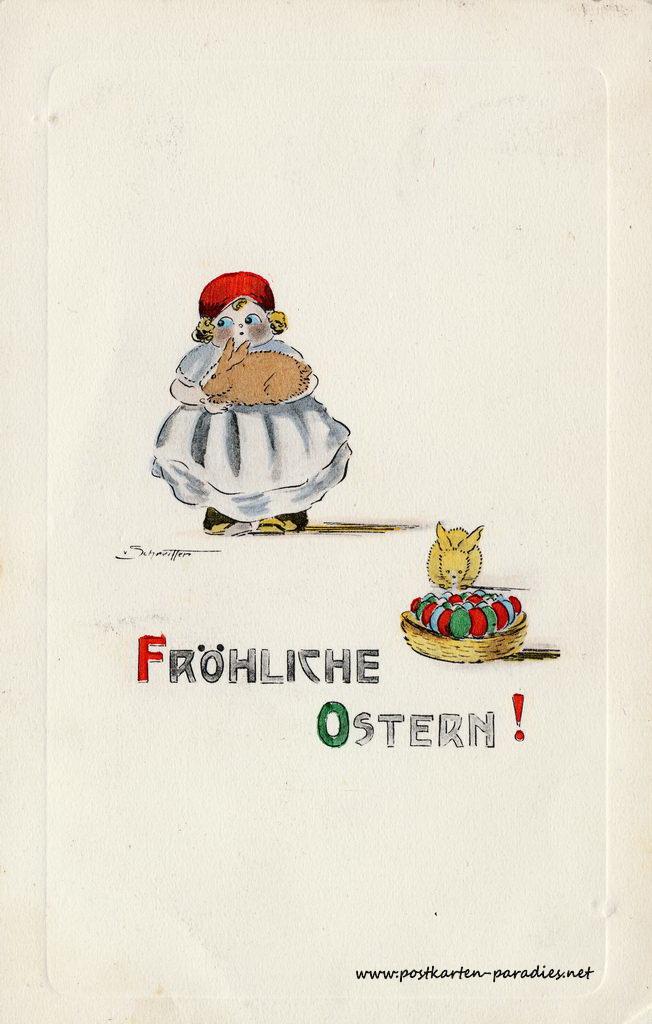 Osterkarte Osterhase 1919