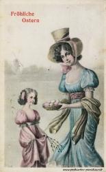 Osterkarte Mädchen Frau