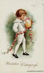 Osterkarte Junge 1920