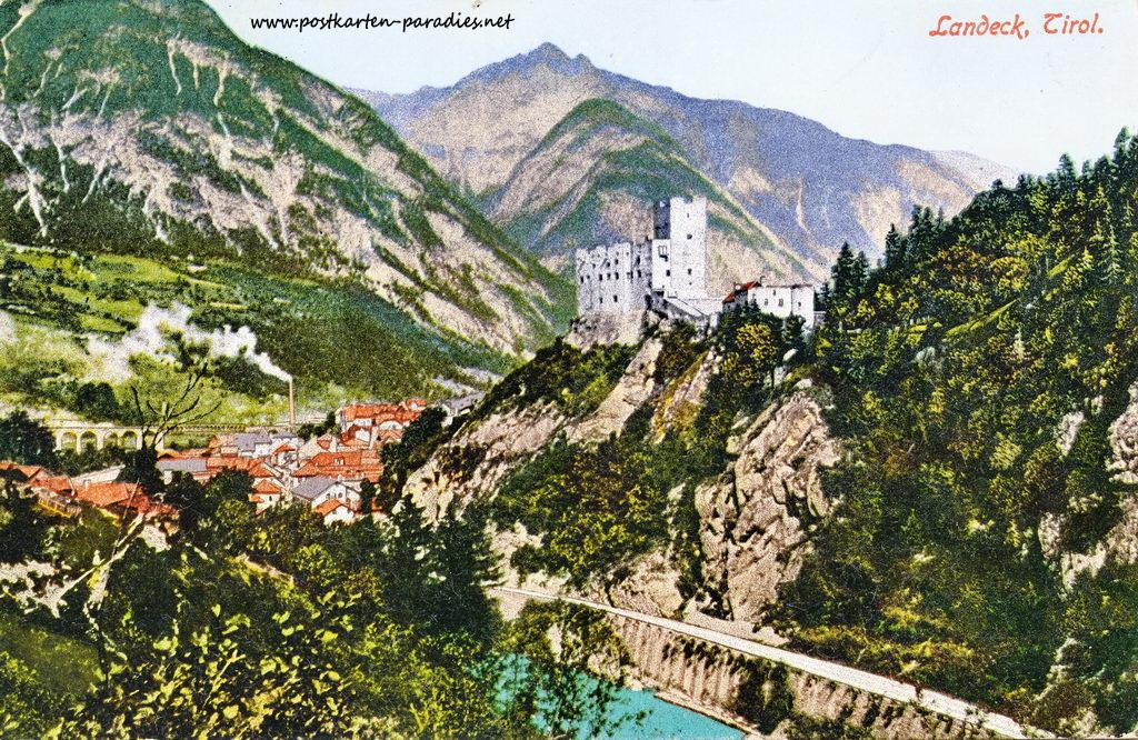 Kaiserzeit Österreich Ansichtskarte Landeck, Tirol 1910