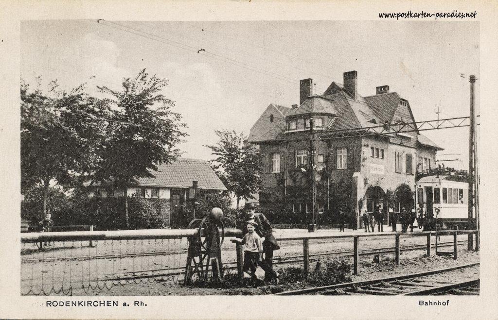 Ansichtskarte Köln-Rodenkirchen: Bahnhof ca. 1910