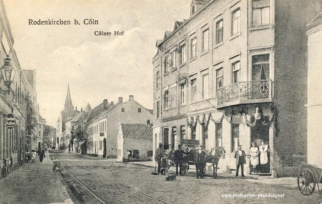 Ansichtskarte Köln-Rodenkirchen: Hauptstraße 1915