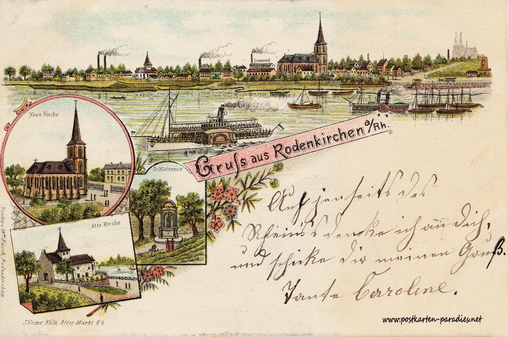 Ansichtskarte Köln-Rodenkirchen: 1899