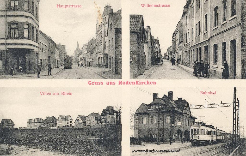 Ansichtskarte Köln-Rodenkirchen: Ortsansichten 1915