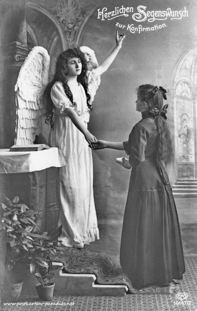 alte Konfirmationskarten, Engel