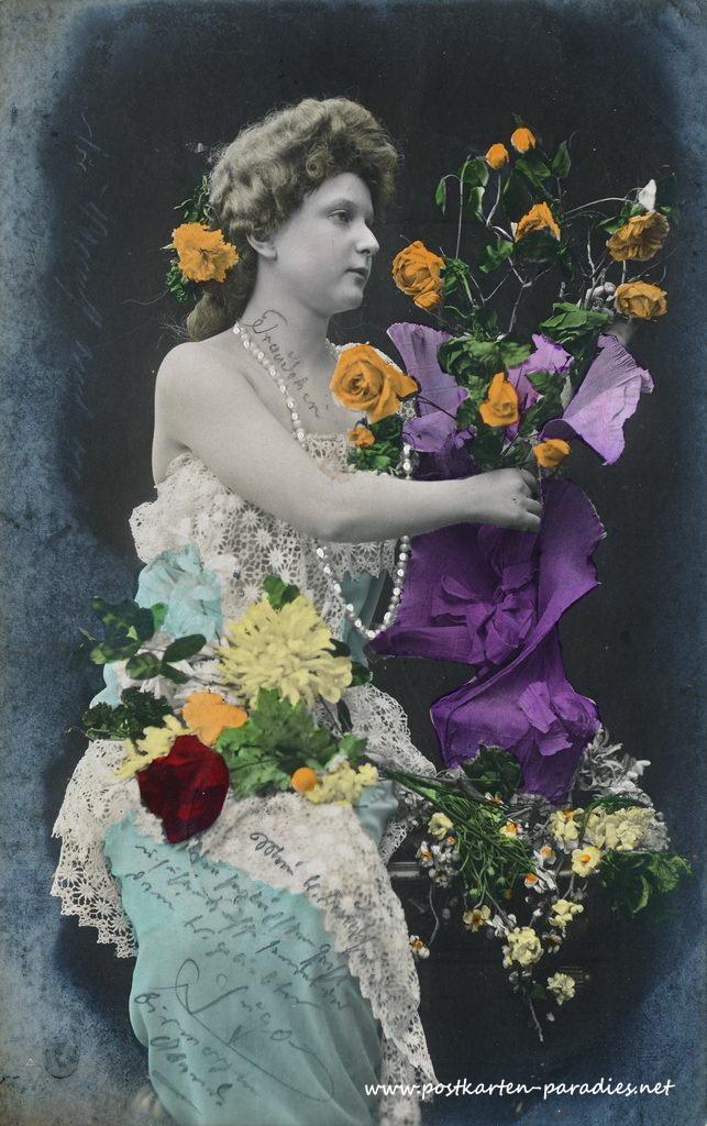 Historische Postkarte Frau, Liebe, Valentinstag