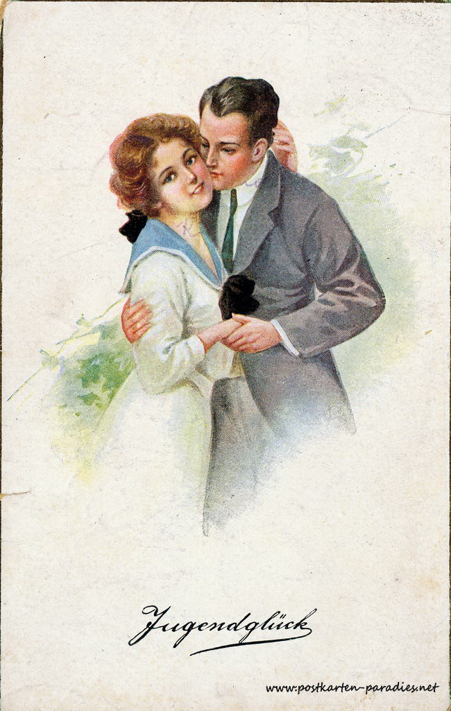 Alte Ansichtskarte Liebe, Paare
