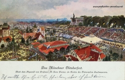 München Oktoberfest Ansichtskarte
