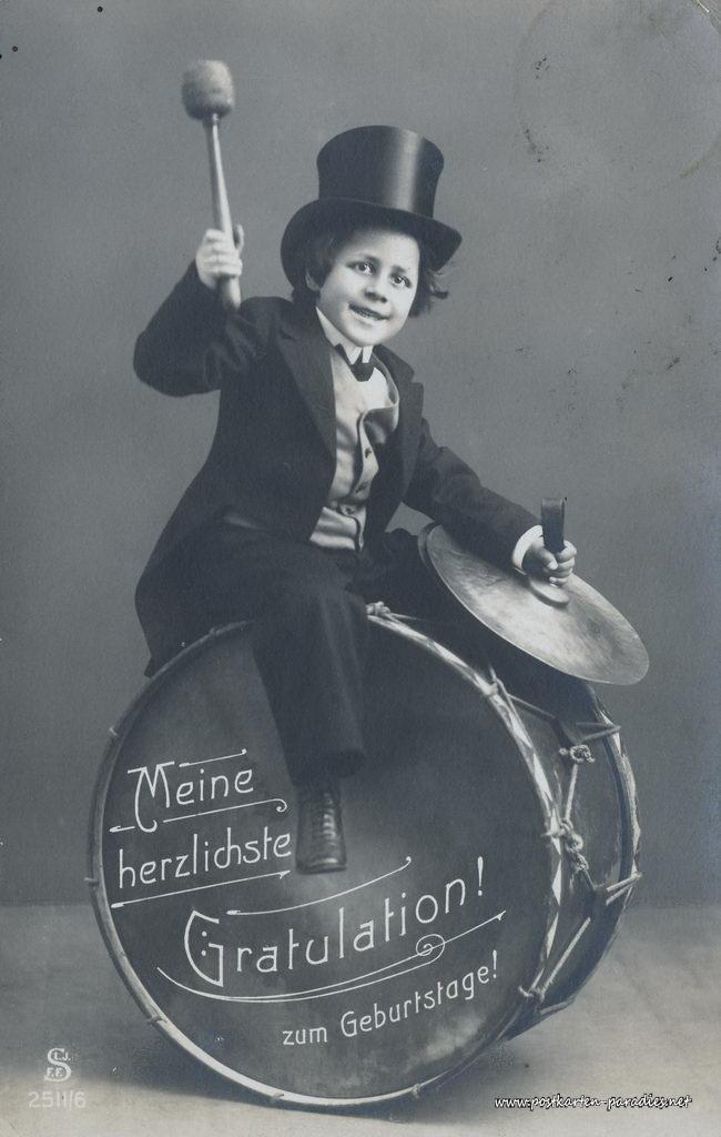 1. Weltkrieg, Geburtstag, Kind, Trommel, Feldpost