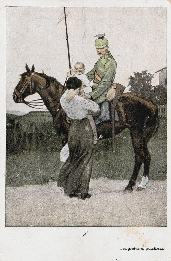 1. Weltkrieg, Kavallerie, Abschied, Familie, 1917