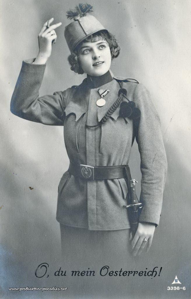 1. Weltkrieg, Frau, Uniform, Österreich, 1916