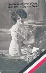 1. Weltkrieg, Frau, schwarz weiss rot, Gedicht, 1916