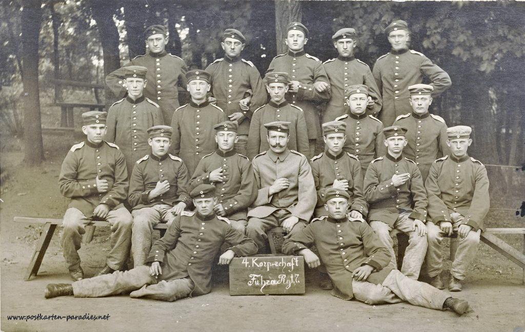 1. Weltkrieg, Feldpost, Soldaten, Korps,1917