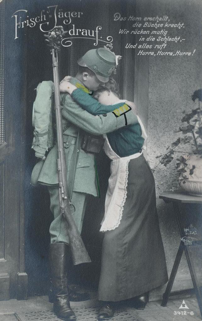 1. Weltkrieg, Paar, Abschied, Soldat, Jäger, Gedicht, 1917