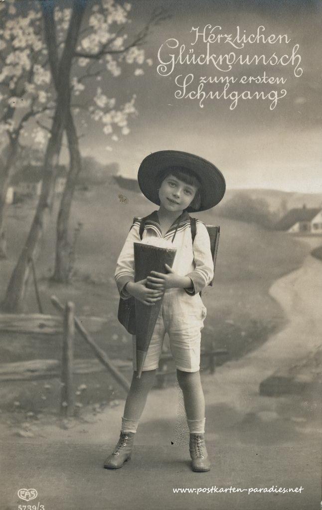 Alte Postkarten Zum Schulanfang Alte Postkarten