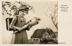 Alte Postkarten zum Schulanfang