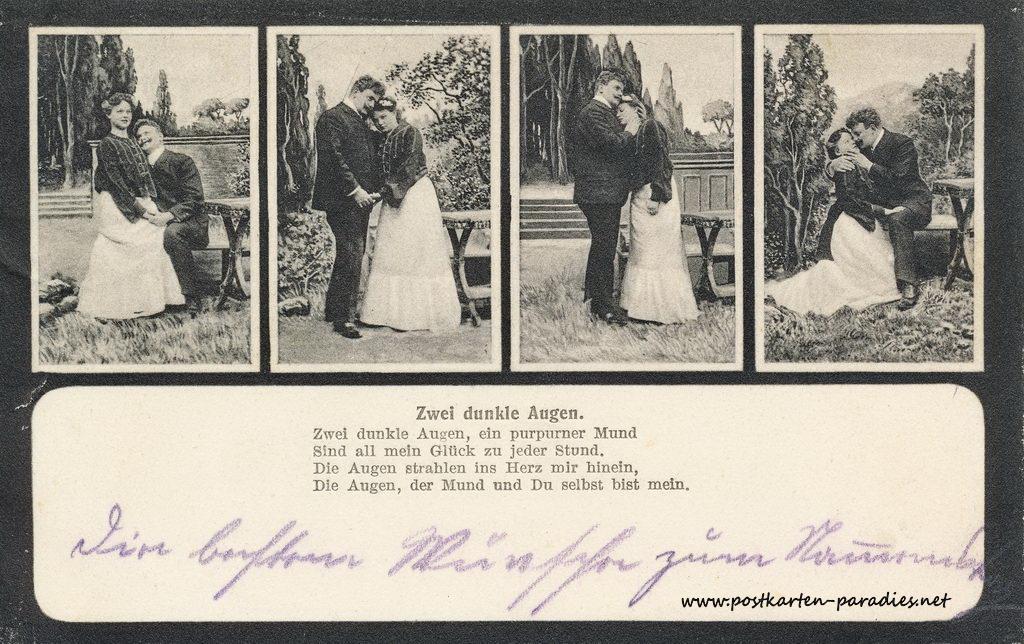 komm auf die dunkle seite postkarte