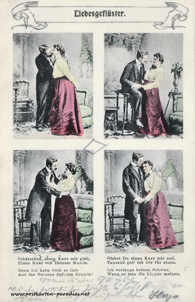 Grus Karten: Alte Grusskarten Zum Valentinstag