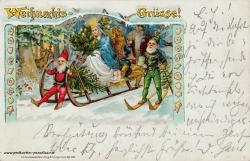 Weihnachtskarte Kaiserzeit