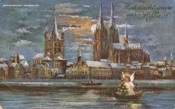 Weihnachtskarte Köln