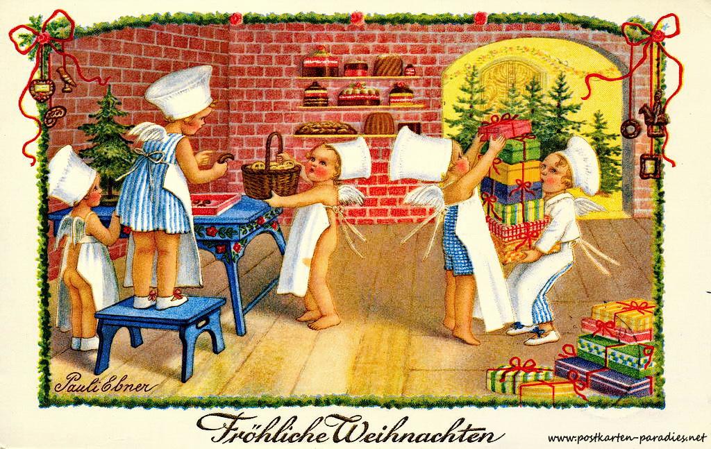 Weihnachtskarten mit kindern und weihnachtsmann alte for Lustige weihnachtskarten zum ausdrucken kostenlos