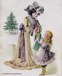 Frau Kind Bescherung