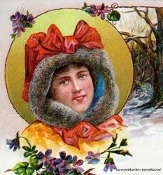 Weihnachten Frau 1899