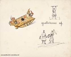 Weihnachtskarte Zwerge Schweden 1889