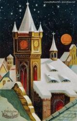 Weihnachtskarte Stadt Winter