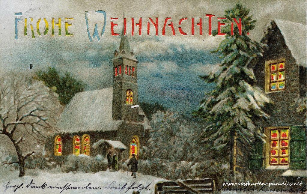 Weihnachtskarten von 1889 bis 1950 alte postkarten for Digitale weihnachtskarten kostenlos
