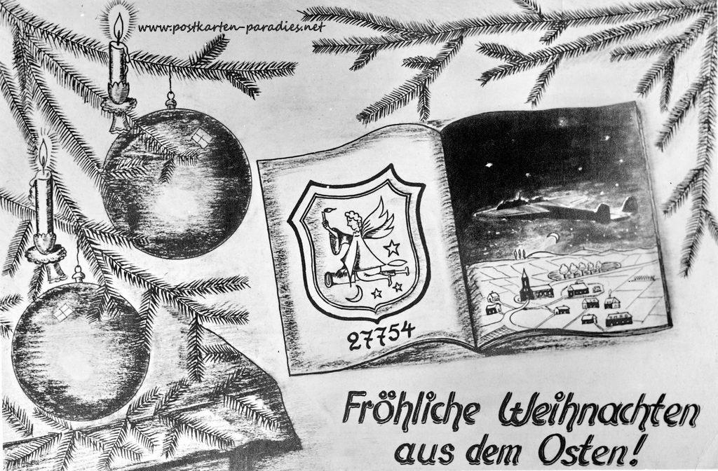 Weihnachtskarte Kriegsweihnacht 1943