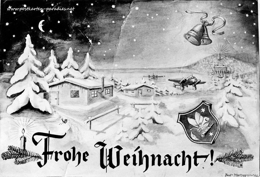 Weihnachtskarte Kriegsweihnacht  1944