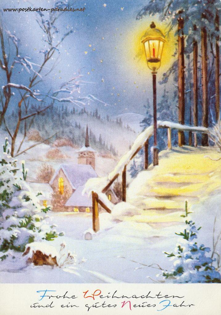 Weihnachtskarte Winter